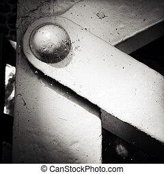 Closeup of a steel girder