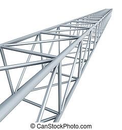 steel girder, isolated 3d render