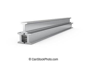 Steel girders isolated