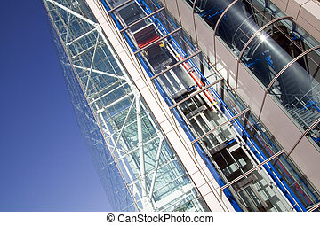 steel glass architecture building