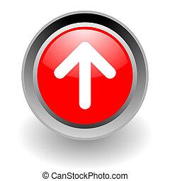 steel glosssy arrow icon