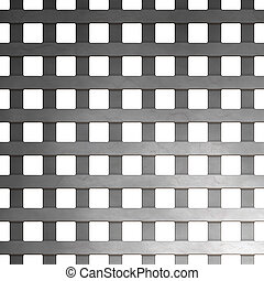 Steel Grate Mesh - A 3d illustration of a steel grate. This...