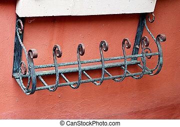 Steel grating wall mounted vintage.