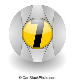 steel icon number seven