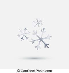 steel icon,  snow - steel icon. snow flake
