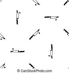 Steel knife pattern seamless black - Steel knife pattern...
