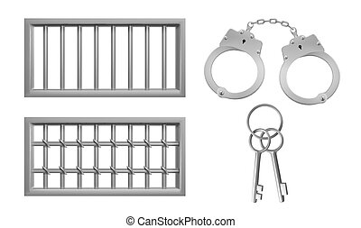 Steel lattice for prison windows, handcuffs, keys - Steel ...