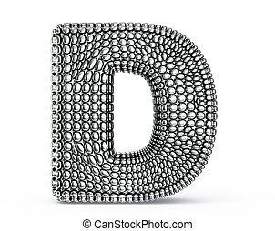 steel letter isolated on a white background