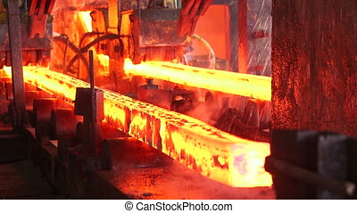 Steel making at the factory