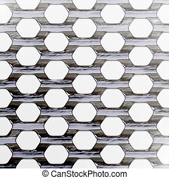 Steel Mesh - A steel wire mesh background with lighting...