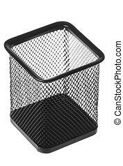 Steel Mesh Pen Stand Isolated