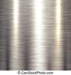 Steel metal background polished metallic plate texture.