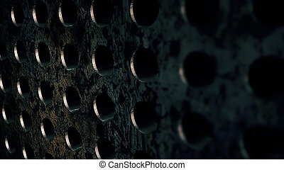 steel metal circle textures. Corrosion backdrop