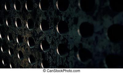 steel metal circle textures. Corrosion backdrop
