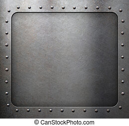 steel metal frame with rivets