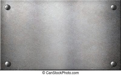 steel metal plate with rivets background