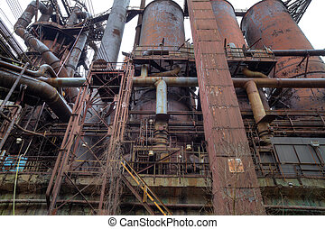 Steel mill outside