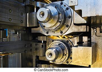 Steel mill - Huge industrial steel mill in close up