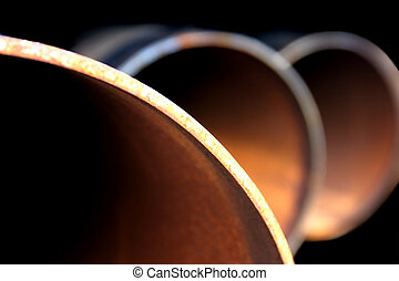 steel pipe abstract - an abstract closeup of large, rusty...