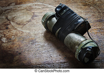 Steel pipe explosive (IED) is ignited by cell phone.