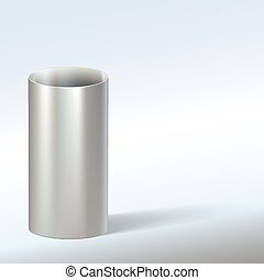 Steel pipe, vector illustration. - Steel pipe, vector...