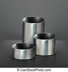 Steel pipes, vector