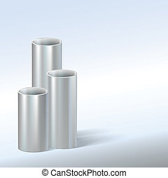Steel pipes, vector illustration.