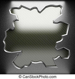 steel plate on carbon made in 3D