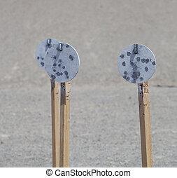 Steel plates for pistol shooting