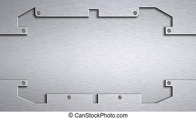 Steel plating. Copy space