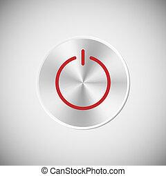 Steel power button