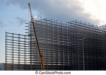 Steel rack warehouse