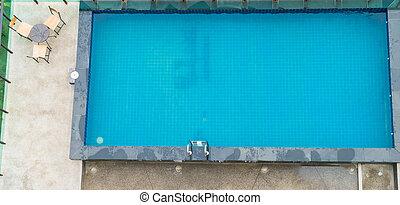 steel railings stairs pool
