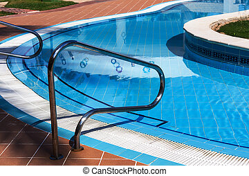 railings stairs pool