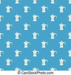 Steel retro coffee pot pattern seamless blue