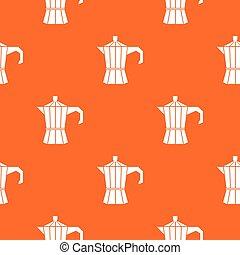 Steel retro coffee pot pattern seamless