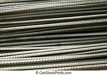 Steel rod background