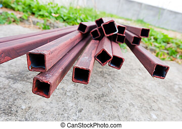 steel rod bar for building construction site