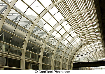 Steel roof structure in the hongkong airport, hongkong, China