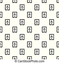 Steel safe pattern seamless vector