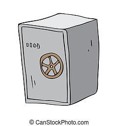 steel safe root bank to keep money cartoon vector