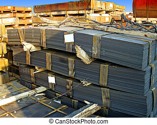 Storage of steel sheets at open space