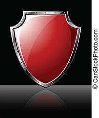 Steel Shield - isolated on black