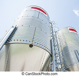 Steel silos for flour.