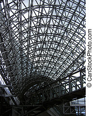 Steel structure - A detail of modern architecture made by...