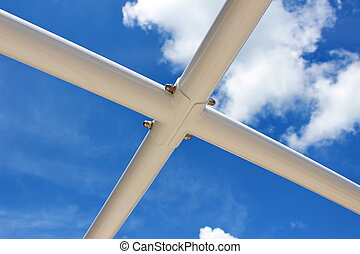 Steel structure with blue sky