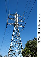 Steel support of power transmission line