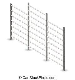 Steel Swedish wall in 3D, vector illustration. - Steel ...