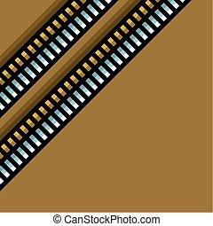 steel techno tubes pattern