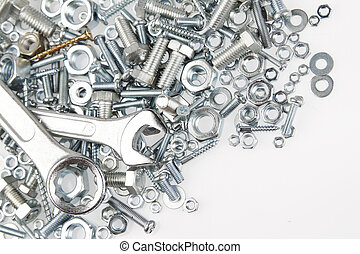 Steel tools - Spanners on nuts and bolts